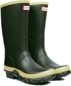Image of Hunter Dark Olive Gardener Wellington Boots- UK Size 5 (Euro 38)