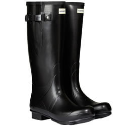 Small Image of Men's Hunter Norris Field Adjustable Neoprene Wellington Boots in Black - UK 6