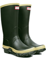 Small Image of Hunter Dark Olive Gardener Wellington Boots - UK Size 4 (Euro 37)