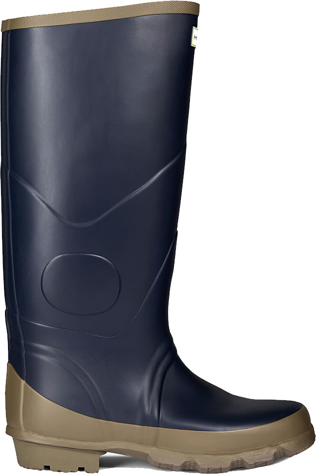 Extra image of Hunter Argyll Bullseye Wellington Boots Navy UK 10
