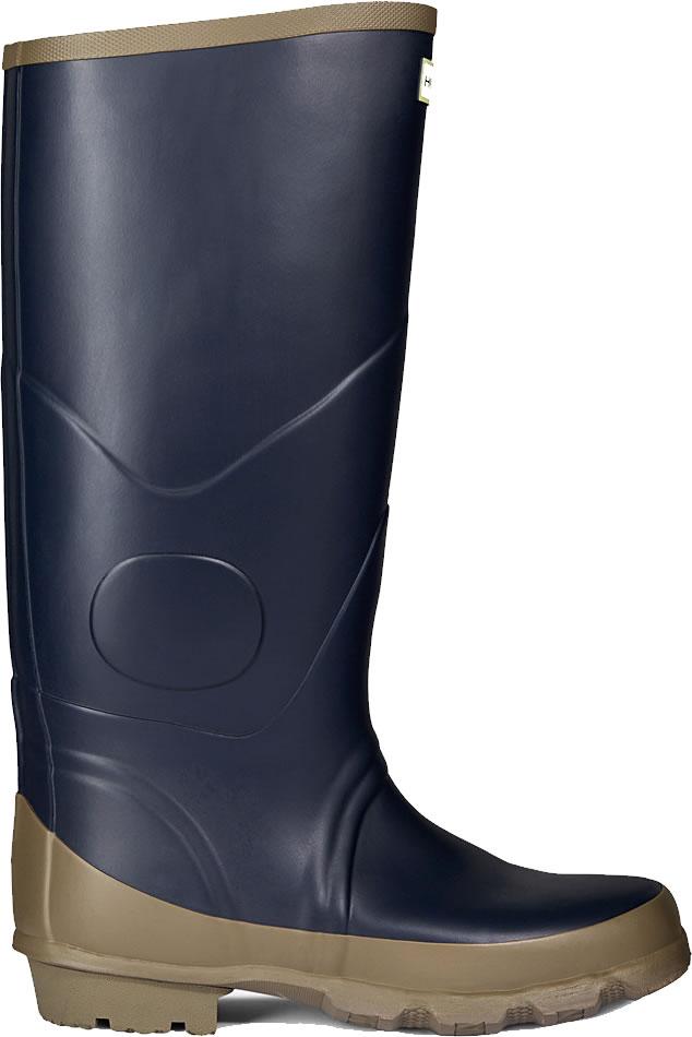 Extra Wide Calf Wellies >> Hunter Argyll Bullseye Wellington Boots Navy - £55.01 ...