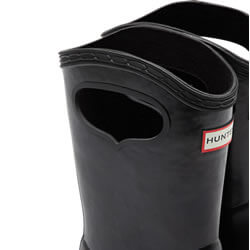 Extra image of Kids First Classic Pull-On Hunter Wellies in Black - UK 10