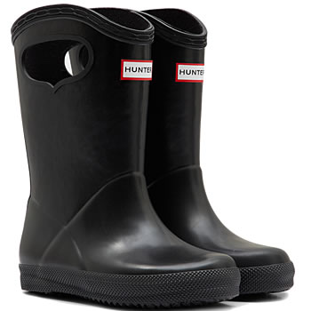 Image of Kids First Classic Pull-On Hunter Wellies in Black - UK 10