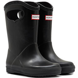 Small Image of Kids First Classic Pull-On Hunter Wellies in Black - UK 10
