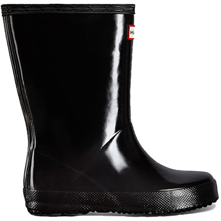 Extra image of Kids First Gloss Hunter Wellies - Black UK 8