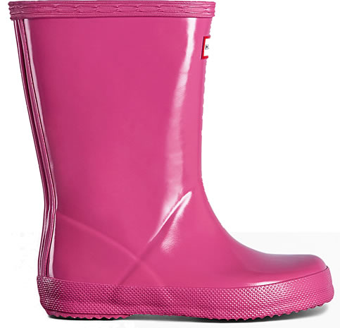 Extra image of Kids First Gloss Hunter Wellies - Fuchsia UK 9