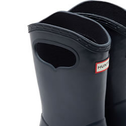 Extra image of Kids First Classic Pull-On Hunter Wellies in Navy - UK 4