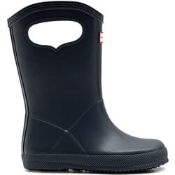 Extra image of Kids First Classic Pull-On Hunter Wellies in Navy - UK 11