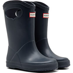 Small Image of Kids First Classic Pull-On Hunter Wellies in Navy - UK 4