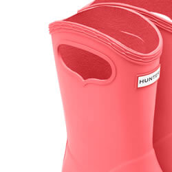 Extra image of Kids First Classic Pull-On Hunter Wellies in Rhythmic Pink