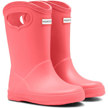 Image of Kids First Classic Pull-On Hunter Wellies in Rhythmic Pink