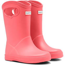 Small Image of Kids First Classic Pull-On Hunter Wellies in Rhythmic Pink