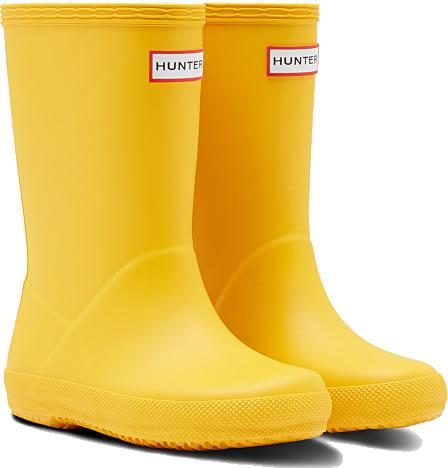 Kids First Hunter Wellies - Yellow - UK