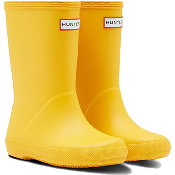 Image of Kids First Hunter Wellies - Yellow - UK Size 8
