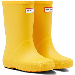 Small Image of Kids First Hunter Wellies - Yellow - UK Size 7