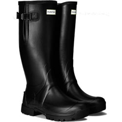 Small Image of Mens Hunter Balmoral Bamboo Carbon Adjustable Wellies - Black