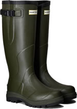 Small Image of Hunter Balmoral Classic Wellington Boots - Dark Olive UK 5