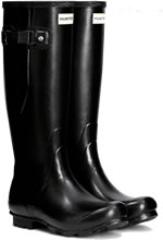 Small Image of Hunter Norris Field Adjustable Wellington Boots - Black UK 11