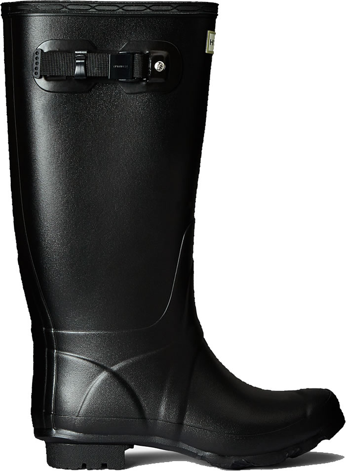 Extra image of Huntress Field Wide Calf Wellington Boots - Black UK 8