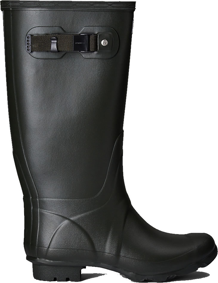 Extra image of Huntress Field Wide Calf Wellington Boots - Dark Olive UK 4