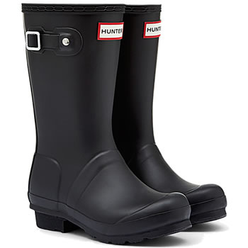 Image of Kids Black Hunter Wellies - UK Size 8