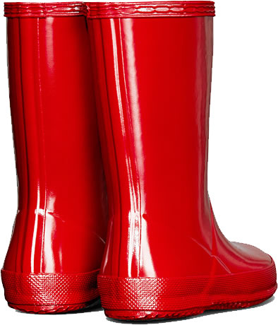 Extra image of Kids First Gloss Hunter Wellies - Military Red UK 7