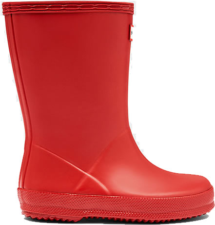 Extra image of Kids First Hunter Wellies - Military Red UK 4