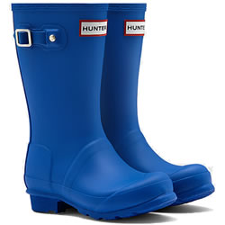 Small Image of Kids Original Hunter Wellies - Azure