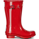 Extra image of Original Gloss Military Red Kids Hunter Wellies - UK Size 1 / Euro 33