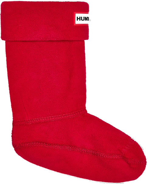 Extra image of Kids Hunter Welly Socks - Military Red