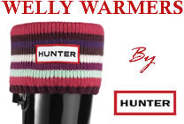 Image of Kids Hunter Welly Socks - Striped Reds