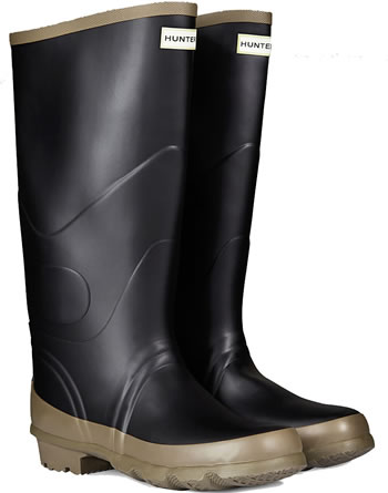 Image of Hunter Argyll Bullseye Wellington Boots Black UK 6