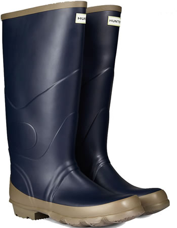 Image of Hunter Argyll Bullseye Wellington Boots Navy UK 10