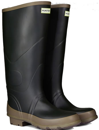 Image of Hunter Argyll Bullseye Wellington Boots Dark Olive