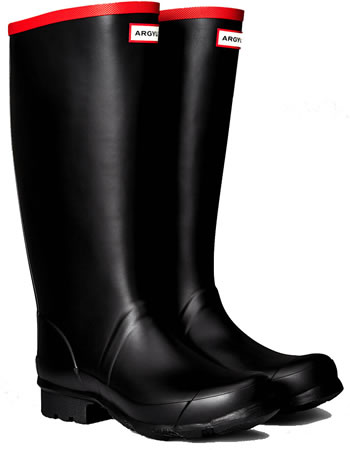 Image of Hunter Argyll Full Knee Wellington Boots UK 12