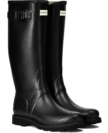 Image of Hunter Balmoral Field Wellington Boots - Black - UK 7