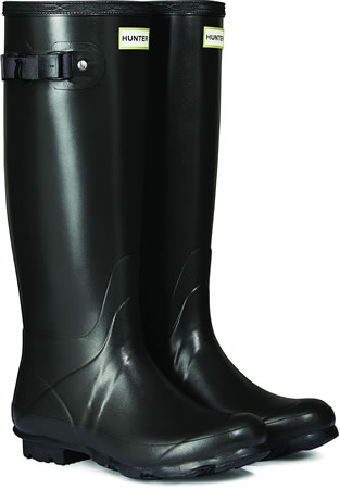 Image of Womens Hunter Norris Field Neoprene Wellington Boots - Slate UK 5