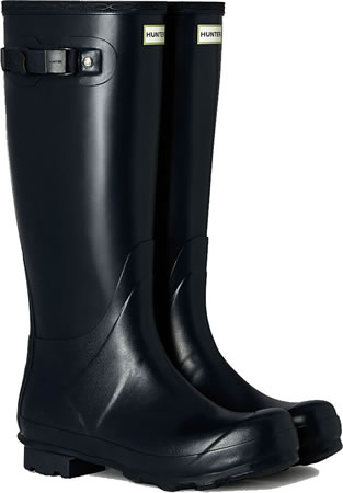 Image of Mens Hunter Norris Field Wellington Boots - Navy UK 7