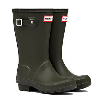 Image of Kids Original Hunter Wellies - Dark Olive - UK 13 / EU 32