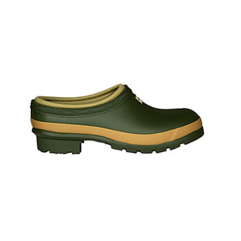 Image of Hunter Women's Field Gardener Clogs in Vintage Green