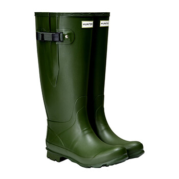 Image of Hunter Women's Norris Wide Fit Boot - Vintage Green - UK 6
