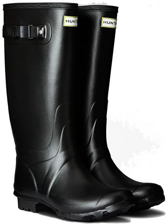 Image of Huntress Field Wide Calf Wellington Boots - Black UK 4