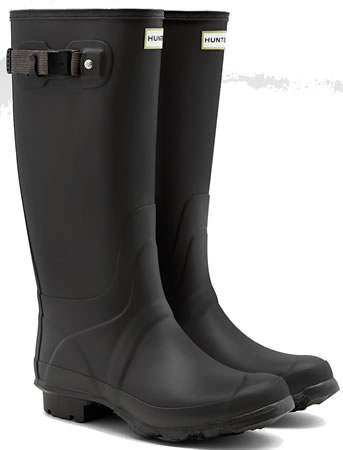 Image of Huntress Field Wide Calf Wellington Boots - Slate UK 5