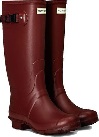 Image of Huntress Field Wide Calf Wellington Boots - Red Chestnut UK 4