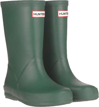 Image of Kids First Hunter Wellies - Green UK 9