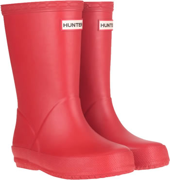 Image of Kids First Hunter Wellies - Military Red UK 4
