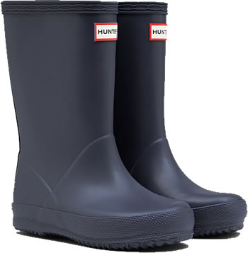 Image of Kids First Hunter Wellies - Mineral Blue UK 12