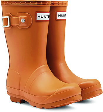 Image of Kids Original Hunter Wellies Iron Oxide