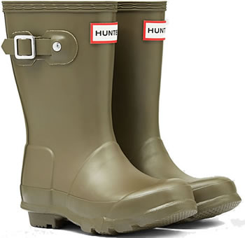 Image of Kids Original Hunter Wellies Swamp Green UK 13