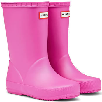 Image of Kids First Lipstick Pink Hunter Wellies - UK Size 6 / Euro 22/23